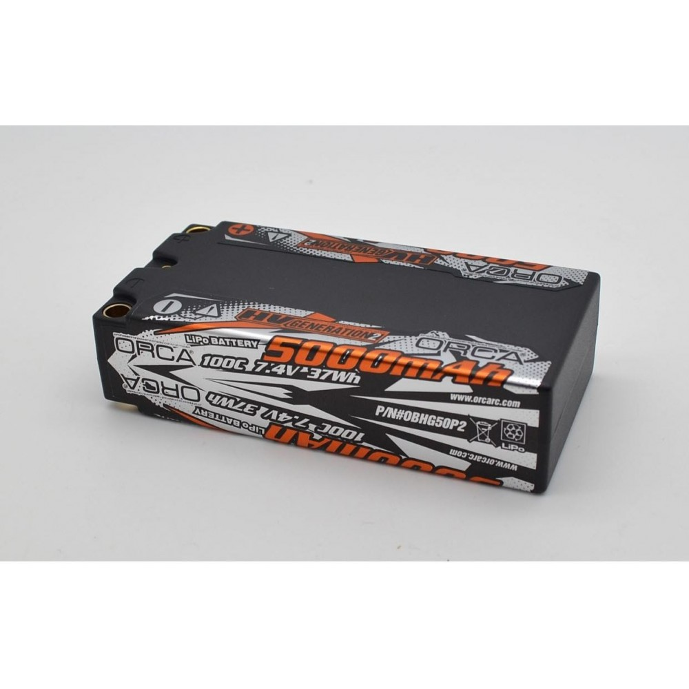 HV GENERATION2 5000mAh 7.4V 100C SHORTY PACK